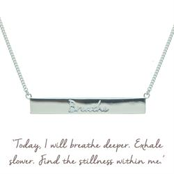 Breathe Bar Mantra Necklace in Silver