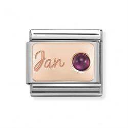Rose Gold January Garnet Charm