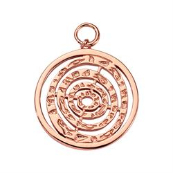 Rose Gold Hammered Spiral Amulet