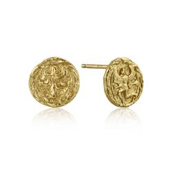 Ania Haie Coins Gold Textured Earrings