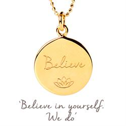 Mantra Believe Necklace in Gold