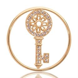Yellow Gold Key To My Heart Coin 33mm