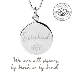 Buy Mantra Sisterhood Women For Women International, Charity Necklace in Silver