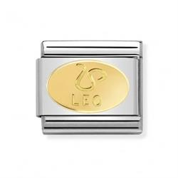 Nomination Gold Leo Oval Zodiac Charm