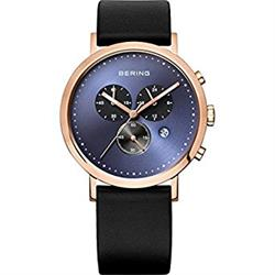 Rose Gold & Navy Chronograph Watch