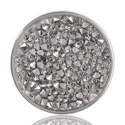 Silver Clear Rock Crystal Coin 33mm