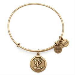 L Initial Bangle in Rafaelian Gold