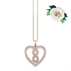 Thomas Sabo GLAM&SOUL Infinity Heart Necklace CZ in Rose Gold