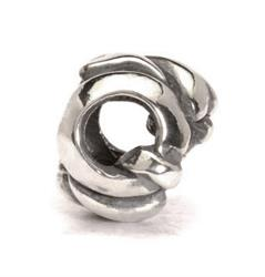Letter Q Silver Charm Bead
