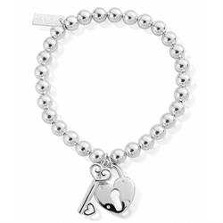 Small Ball Lock and Key Bracelet