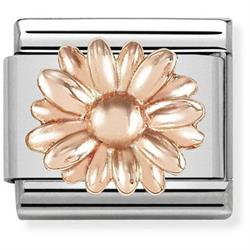 Rose Gold Daisy Charm by Nomination