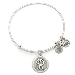 R Initial Bangle in Rafaelian Silver