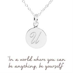 U Mantra Initial Necklace