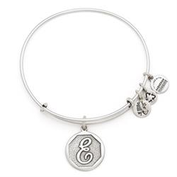 E Initial Bangle in Rafaelian Silver