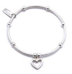 Mini Noodle Open Heart Bracelet