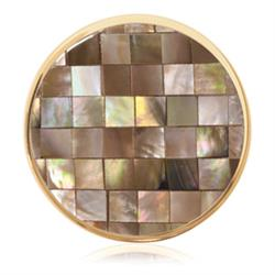 Gold Brown Shell Mosaic Coin 33mm