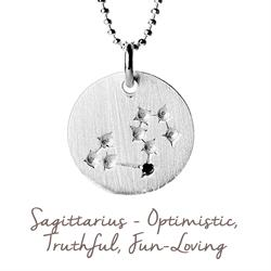 Mantra Sagittarius Star Map in Silver