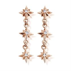 'Inner Spirit' Rose Gold North Star Drop Earrings