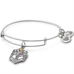 Tree of Life Disc bangle in Rafaelian Silver Finish