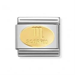 Nomination Gold Scorpio Oval Zodiac Charm