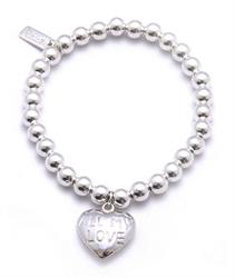 Silver Small Ball, All My Love Bracelet