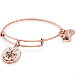 Buy Alex and Ani Sand Dollar Colour Infusion Bangle in Rafaelian Rose Gold
