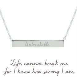 Holly Matthews Unbreakable Bar Necklace