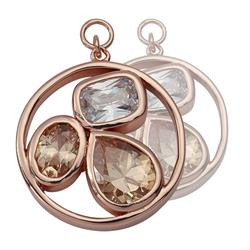 Rose Gold Simplicity Cystal 20mm Earring Coins
