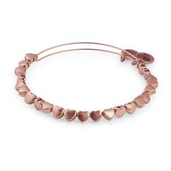 Heart Beaded Bangle in Rafaelian Rose Gold