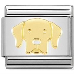 Gold Labrador Charm by Nomination