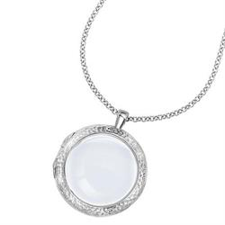 Long Small Silver Cherish Locket