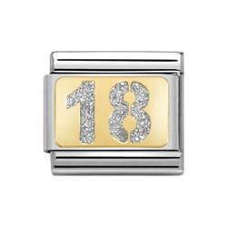 Nomination Gold Glitter 18 Charm