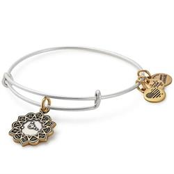Cancer Two Tone Zodiac Bangle