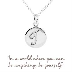 T Mantra Initial Necklace
