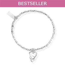 Buy ChloBo Silver Interlinked Heart Bracelet