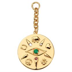 Nikki Lissoni Gold Evil Eye Amulet