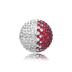 Red and White Crystal Sound Ball Medium