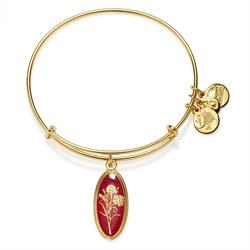 Alex and Ani Love Potion Carnation in Shiny Gold Finish