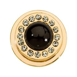 Black Pearl Gold Ring Coin