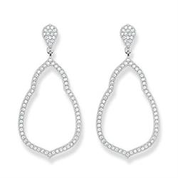 Silver Fatima's Garden Oriental Drop Earrings