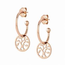 Buy Nomination Rose Gold Melodie Hoop Earrings with Tree of Life