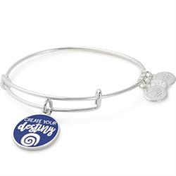 Create Your Destiny bangle in Shiny Silver