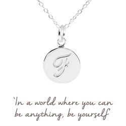 F Mantra Initial Necklace