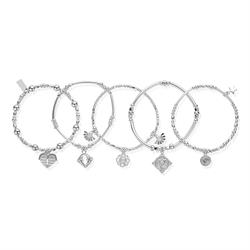 Ariella Silver Set of 5 Bracelets