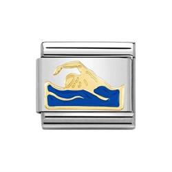 Buy Nomination Gold Enamel Swimmer Charm