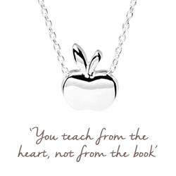 Apple Mantra Necklace in Silver