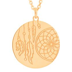Dreamcatcher myMantra Necklace in Rose Gold