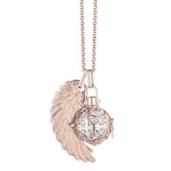 Rose Gold Angel Whisperer with Sound Ball, Wing and Chain