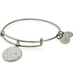 Silver Sparkle Evil Eye Bangle