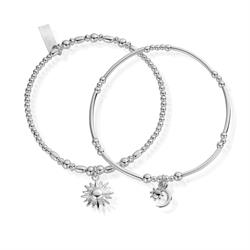 Buy ChloBo Silver Dusk to Dawn Set of 2 Bracelets
